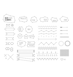 Ultimate design elements blog kit For your vector image
