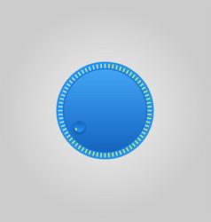 User interface control blue web element circle vector