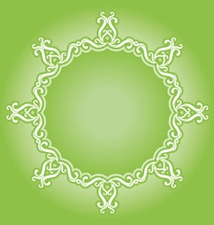 vintage green vector image