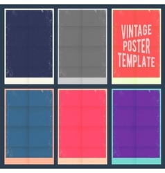 Vintage poster template vector image