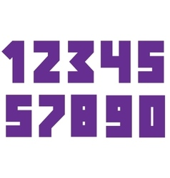 Violent bold numbers vector