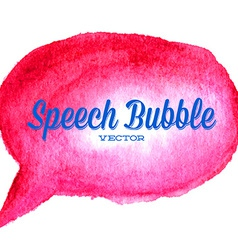 watercolor drawn red speech bubble vector image