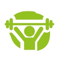 weight lifting silhouette isolated vector image