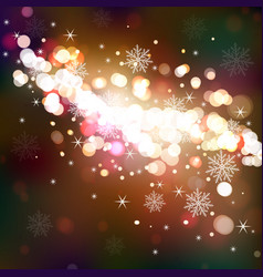 winter shining background vector image