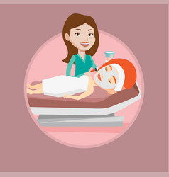woman in beauty salon during cosmetology procedure vector image