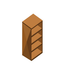 wood cabinet storage isometric furniture design vector image