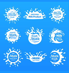 yogurt splash milks macula or milky drink blot vector image