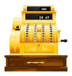 antique cash register vector image vector image