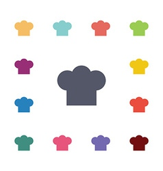 chef hat flat icons set vector image