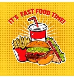 Food Pop Art Poster vector image