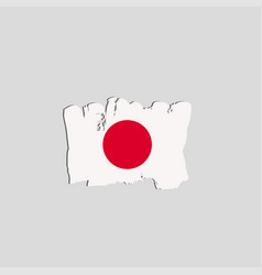 japan flag painted by brush hand paints art flag vector image