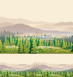 beautiful forest vector image vector image