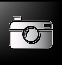 digital photo camera sign gray 3d printed vector image vector image