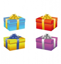 gift box set vector image