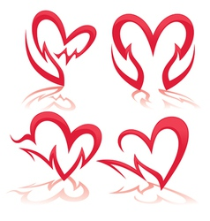 heart in my hands collection of health symbols vector image vector image