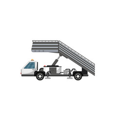 passenger ladder isolated icon vector image vector image