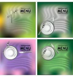 restaurant menu food and drink vector image vector image