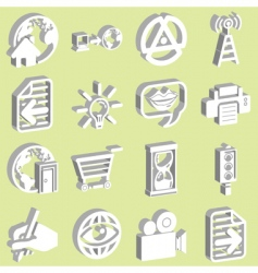 3D internet web icons vector image vector image