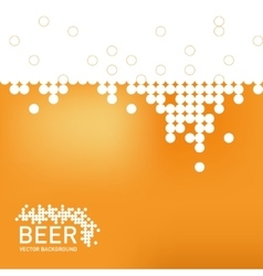 Beer foam background stylized bubble vector image