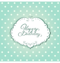 Card with frame and polka dot background vector image