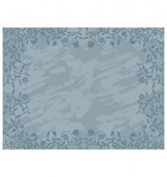 grunge floral frame vector image