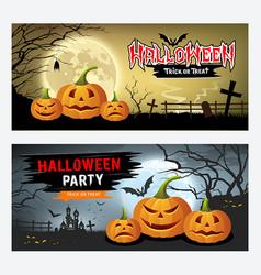 happy halloween banner collections design vector image