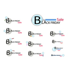 Magnifying Glass Looking for Black Friday vector image vector image