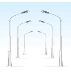 Street lanterns on a white background electricity vector image vector image