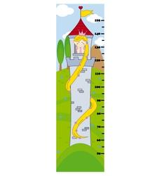 Bumper children meter wall vector image vector image