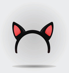 cat ears mask vector image vector image