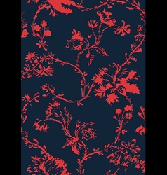 hand drawn poppies floral seamless background vector image vector image