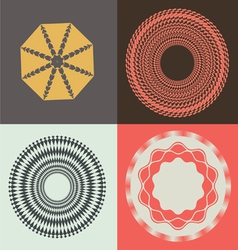 optical collection designs vector image