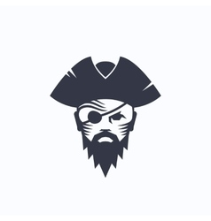 Pirate Head Abstract Logo Template Sailor vector image