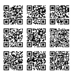 set of abstract qr codes vector image