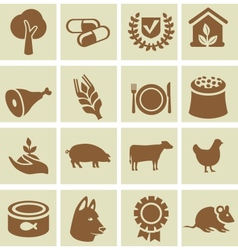 Set of agricultural icons vector image