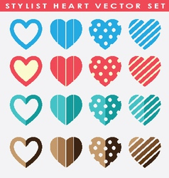 stylist hearts sets vector image vector image