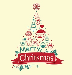 Vintage Christmas card Celebration background vector image vector image