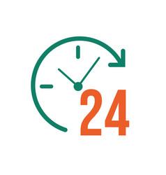 24 hours signal with arrow vector