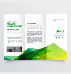 Abstract green creative tri-fold brochure flyer vector
