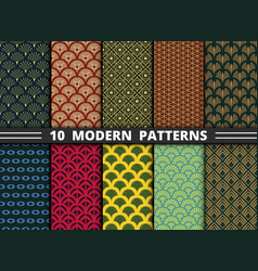 abstract modern style antique pattern colorful vector image