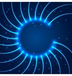 Abstract shining circle vector