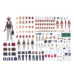 african american school art teacher creation set vector image
