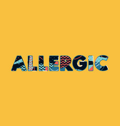 Allergic concept word art vector