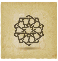 arabic geometric circular pattern vintage vector image