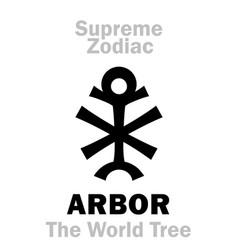 Astrology supreme zodiac arbor the world tree vector
