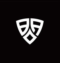Ba monogram logo with modern shield style design vector