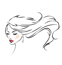 Beauty Portrait vector image