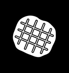 belgian waffle dark mode glyph icon vector image