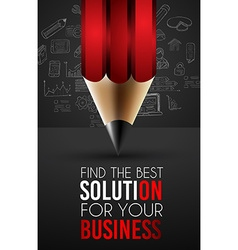 Best Business Solution Infographic Layout Template vector image