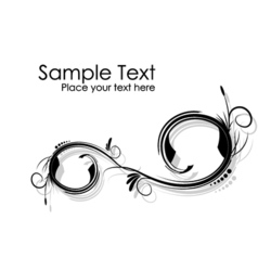 Black and white abstract wavy branches background vector